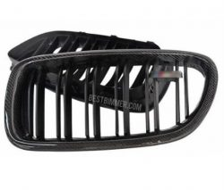 Grill BMW F10 Matte Black Carbon Fiber Include Emblem M5 (Double Slats)