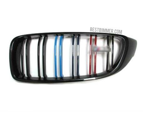 Grill BMW Shiny Black Model M Color Include Emblem M4 (Double Slats)