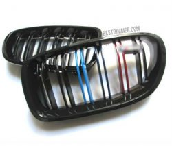 Grill BMW F10 Shiny Black Model M Color Include Emblem M5 (Double Slats)