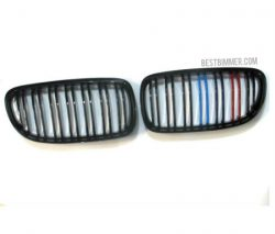 Grill BMW E90 LCI Th. 2009-2011 Shiny Black Model M Color (Double Slats)
