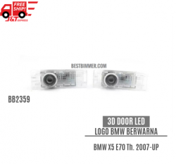 3D Door LED Logo BMW Berwarna Untuk BMW X5 E70 Th. 2007-UP