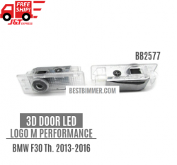 3D Door LED Logo M Performance Untuk BMW F30 Th. 2013-2016