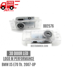 3D Door LED Logo M Performance Untuk BMW X5 E70 Th. 2007-UP