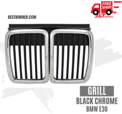 Grill Black Chrome BMW E30