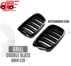 Grill Double Slats Shiny Black BMW E39