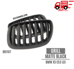 Grill Matte Black BMW X5 E53 LCI Th. 2004-2006