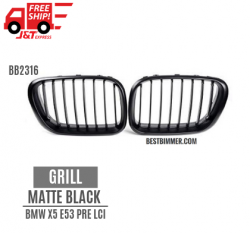 Grill Matte Black BMW X5 E53 Pre LCI Th. 1999-2003