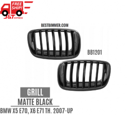 Grill Matte Black BMW X5 E70, X6 E71 Th. 2007-UP