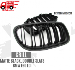 Grill Matte Black Double Slats BMW E90 LCI Th. 2009-2012