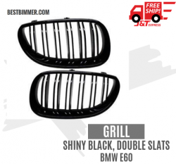 Grill Shiny Black Double Slats BMW E60