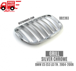 Grill Silver Chrome BMW X5 E53 LCI Th. 2004 - 2006