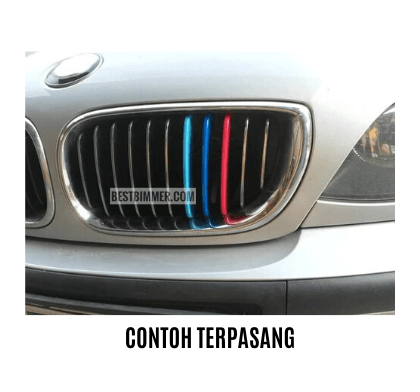 Clip On Grill Bahan ABS BMW E46 Facelift Th. 2002-2004
