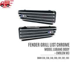 Fender Grill List Chrome Lubang Body + Emblem M3