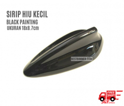 Sirip Hiu Kecil Warna Black Painting Ukuran 18x8.7cm