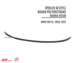 Spoiler M Style Bahan Polyurethane Warna Hitam BMW E90 Th. 2005-2012